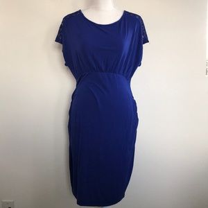 Small Cobalt Blue Old Navy Maternity Dress